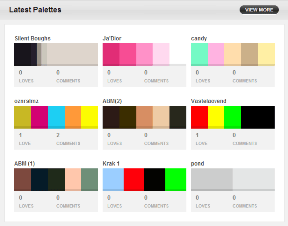 Browse Palettes -- COLOURlovers