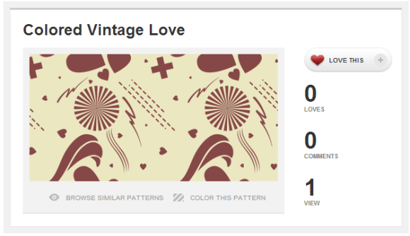 Pattern - Colored Vintage Love -- COLOURlovers